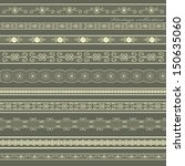 set of lines of vintage lace.... | Shutterstock .eps vector #150635060
