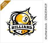 Billiard 9 Ball Badge Logo...