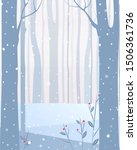 vector illustration. winter... | Shutterstock .eps vector #1506361736