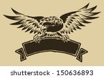 eagle with ribbon   Shutterstock .eps vector #150636893