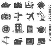 travel and tourism icon set | Shutterstock .eps vector #150638810