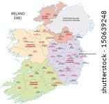 ireland administrative map | Shutterstock .eps vector #150639248