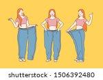 diet  weight loss  slimming... | Shutterstock .eps vector #1506392480