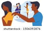 relationship breakup flat...   Shutterstock .eps vector #1506392876