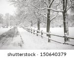 Winter Landscape Depicting A...