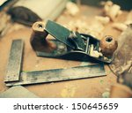 Desk Of A Carpenter With Some...