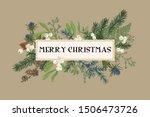 christmas frame with winter... | Shutterstock .eps vector #1506473726