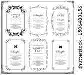 vector set of vintage elements... | Shutterstock .eps vector #1506488156