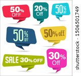 collection of colorful sale... | Shutterstock . vector #1506501749
