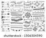 set of hand drawing page... | Shutterstock . vector #1506504590