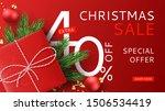 christmas sale promo banner.... | Shutterstock .eps vector #1506534419