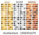 collection of gold  silver ... | Shutterstock .eps vector #1506541670