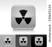 radiation icon set. gray color...
