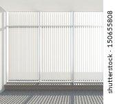 window vertical fabric blinds | Shutterstock . vector #150655808