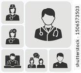 doctor icons set. vector... | Shutterstock .eps vector #1506573503