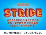 retro led stripe font design ... | Shutterstock .eps vector #1506575210