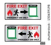 rectangle fire exit door or... | Shutterstock .eps vector #150659198
