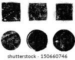 grunge shapes | Shutterstock .eps vector #150660746