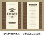 coffee menu design brochure... | Shutterstock .eps vector #1506628106