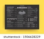 burger restaurant menu layout... | Shutterstock .eps vector #1506628229