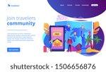 tourist agency mobile app.... | Shutterstock .eps vector #1506656876