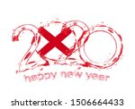happy new 2020 year with flag... | Shutterstock .eps vector #1506664433