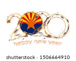 happy new 2020 year with flag... | Shutterstock .eps vector #1506664910