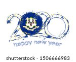happy new 2020 year with flag... | Shutterstock .eps vector #1506666983