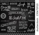 hand drawn chalkboard style... | Shutterstock .eps vector #150670910