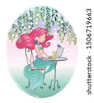 lovely mermaid vector... | Shutterstock .eps vector #1506719663