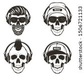 Music Skull Front View Set ...