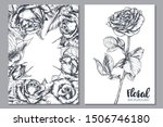 collection of vector floral... | Shutterstock .eps vector #1506746180