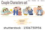 lover couple characters set... | Shutterstock .eps vector #1506750956
