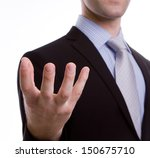 open hand of business man | Shutterstock . vector #150675710