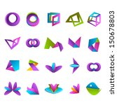 abstract icons set   isolated...   Shutterstock .eps vector #150678803