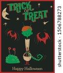 trick or treat happy halloween... | Shutterstock .eps vector #1506788273
