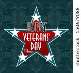 happy veterans day american | Shutterstock .eps vector #150679088