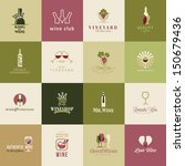 set of icons for wine  wineries ... | Shutterstock .eps vector #150679436