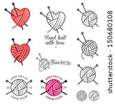 Set Of Hand Knit Labels  Badge...
