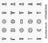 screws and nuts icons | Shutterstock .eps vector #150680366