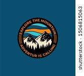mountain travel emblems.... | Shutterstock .eps vector #1506815063
