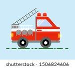 Red Fire Truck Emergency...