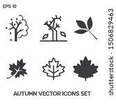 autumn vector icons set. ui ux. ...