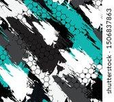 multi color sports textile... | Shutterstock .eps vector #1506837863