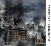 urban destruction  illustration ... | Shutterstock . vector #150683813