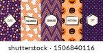 halloween seamless patterns...   Shutterstock .eps vector #1506840116