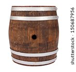 old handmade oak barrel on... | Shutterstock . vector #150687956