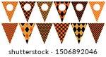 vector halloween bunting... | Shutterstock .eps vector #1506892046