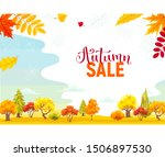 autumn sale background with...   Shutterstock .eps vector #1506897530