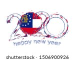 happy new 2020 year with flag... | Shutterstock .eps vector #1506900926